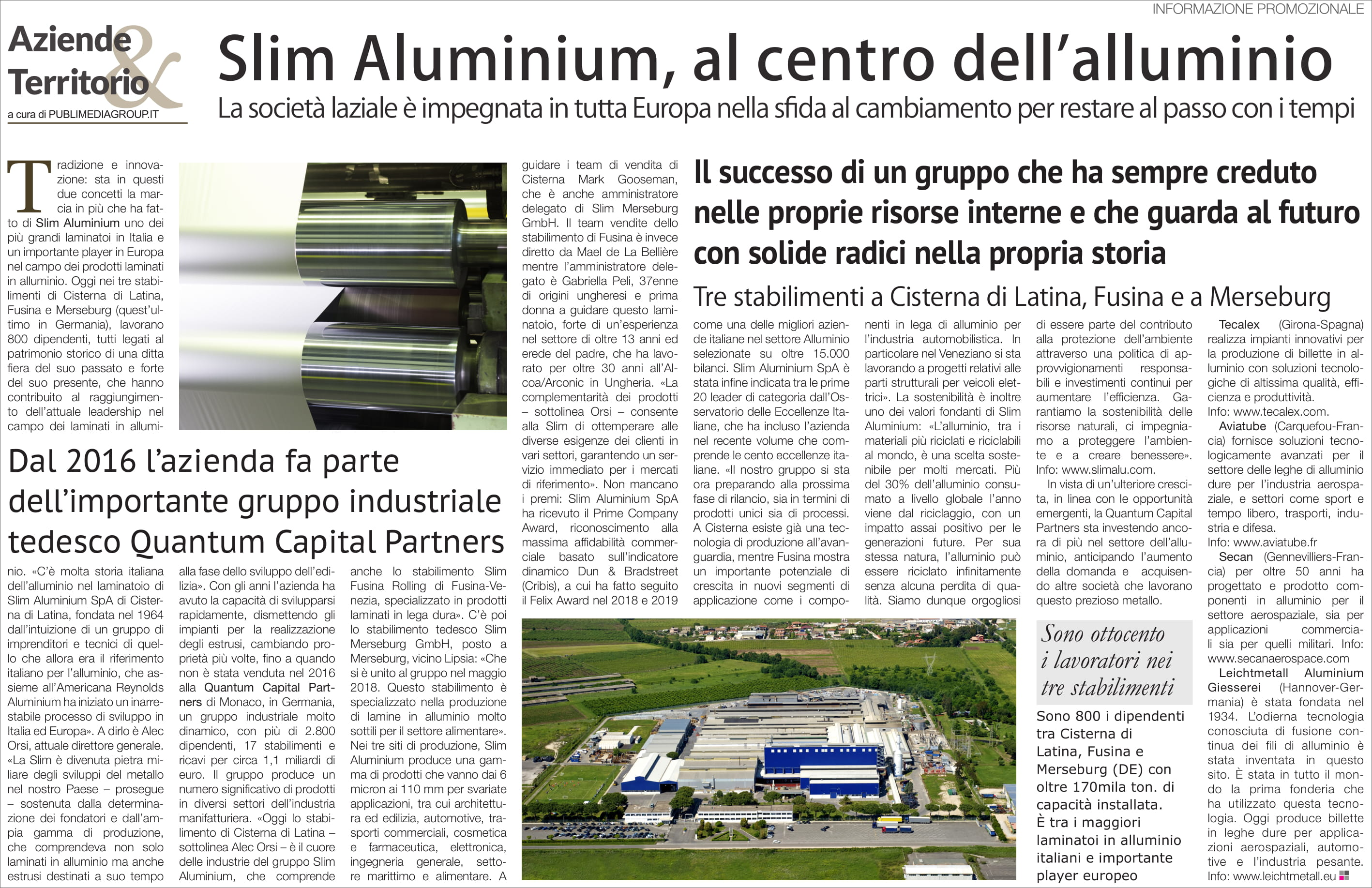Slim Aluminium, at the heart of aluminium